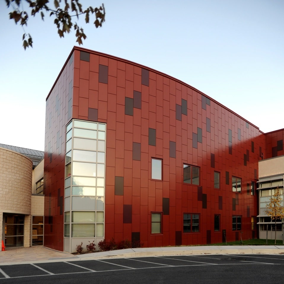 Billowed Metal Building Wall Panel : Beth tfiloh dri design